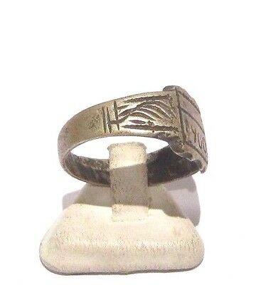 MARVELOUS TOP QUALITY BRONZE ANTIQUE 1900's PERSONAL RING,YEAR INSCRIBED # 698 2