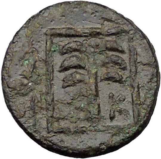 Skepsis in Troas 350BC Ancient Greek Coin Pegasus winged horse Fir tree  i31791 2