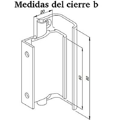Cierre De Ventana Corredera Modelo B Para Superficie Aluminio Manilla, Recambios 2