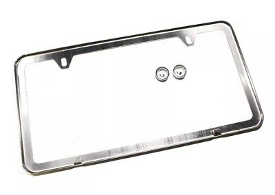 1 Of 7FREE Shipping 1Pc Slim Chrome Stainless Steel License Plate Frame +  Screw Caps /slim 2 Hole Cf