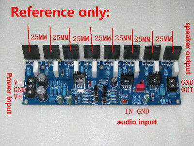 400W DUAL POWER Amplifier Board PCB Toshiba 2SC5200 2SA1943 Mono High Power  AMP
