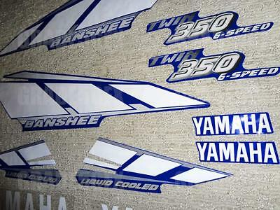 2001 Yamaha Banshee Blue/White/Silver Decals Stickers Quad Graphics 10pc kit