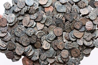 Top Quality Uncertain Byzantine Bronze Follis Coins , One Bid 100 Coins 2