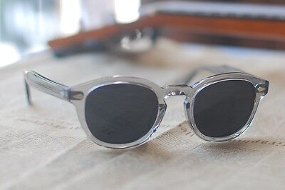 a911384dc2f ... Vintage Johnny Depp polarized sunglasses crystal grey acetate glasses  smoke lens 3