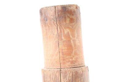 alte Holzspindel Spindel Fassspindel old vintage Deko Bauer 7