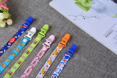 Beautiful Dummy Clip Baby Soother Clips Chain Holder Pacifier Strap Many Designs 6