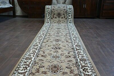 Modern Hall Carpet Runner BCF BASE beige TRADITION Stairs 60-150cm extra long