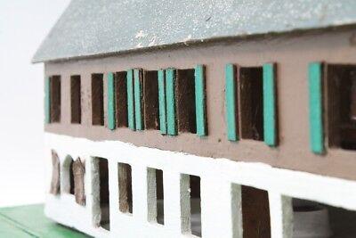 Vieux Décoratifs Poutre en Treillis Maison Bois Top Déco avec Lumière 8