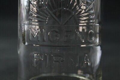 alte dekorative Glasflasche Milchgenossenschaft Pirna MIGENO Glas Flasche 7
