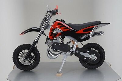 49Cc Mini Motor Dirt Bike Kids Pocket 2 Stroke Motorcycle Monkey Atv Black Red 3