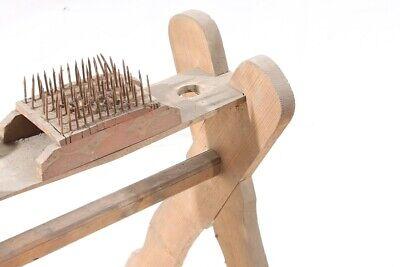 Alter antiker Flachskamm Flachsbrett Flachsreisser Hanf Bürste Werkzeug Deko 4