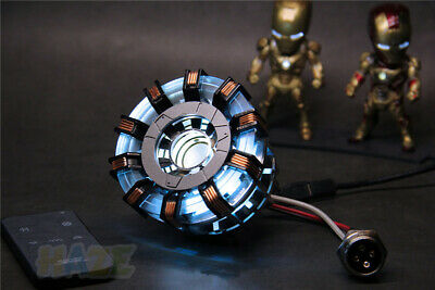 Iron Man Tony Stark MK2 Arc Reactor Display Box USB Powered/Remote Control Prop 4