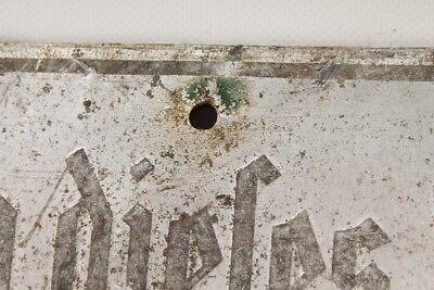 altes Schild Sächsisches Forstamt Betreten dieses Hanges §19FFSt6 verboten 3