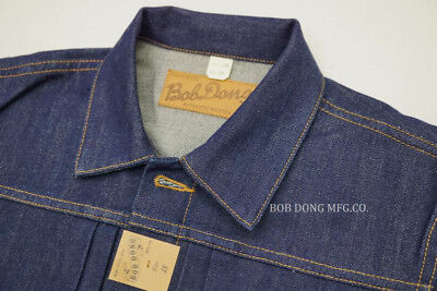 BOB DONG Repro WABASH Striped Selvage Denim Trousers Vintage Indigo Work Pants