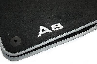 Textilfussmatten Audi A8 Premium 4H S-Line S8 W12 Stoffmatten Velours vorne OEM