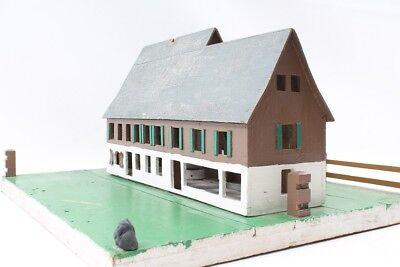 altes dekoratives Fachwerk Haus Holzhaus Haus TOP DEKO mit Licht