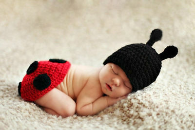 Newborn Baby Girl Boy Crochet Knit Costume Photo Photography Prop Hats Outfits 2