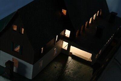 Vieux Décoratifs Poutre en Treillis Maison Bois Top Déco avec Lumière 11