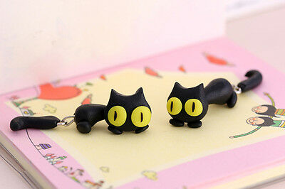1 Pair Fashion Jewelry Women's 3D Animal Cat Polymer Clay Ear Stud Earring J&S 9