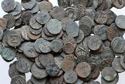 Top Quality Of Big Bronze Follis Or Half Follis Byzantine Coins , One Bib 10 Coi 3