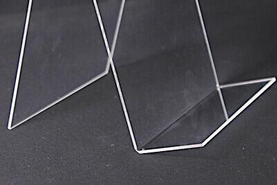 5 Stück NEUE Buchaufsteller 150 mm  Buchstütze Buchhalter glasklar