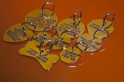 Quality Engraved Pet tag - Med 32mm circle Brass tag 2