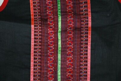 vintage tribal exotic chinese miao people's hand embroidery costume vest 5
