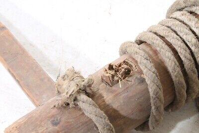 alte Holzspindel Spindel Fassspindel old vintage Deko Bauer 4