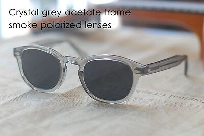 bc765e76d73 ... Vintage Johnny Depp polarized sunglasses crystal grey acetate glasses  smoke lens 2