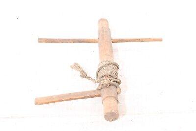 alte Holzspindel Spindel Fassspindel old vintage Deko Bauer 3