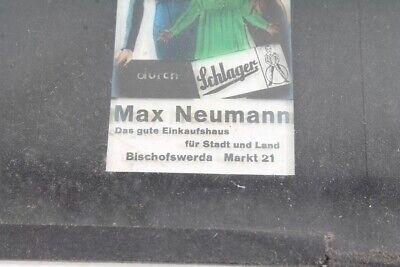 altes Werbedia Dia Werbung Glas Max Neumann Sammler 2