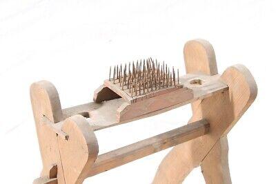 Alter antiker Flachskamm Flachsbrett Flachsreisser Hanf Bürste Werkzeug Deko 2