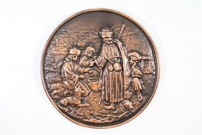 Old Picture Relief Art Mural Decoration Old Vintage Wall Plate 4