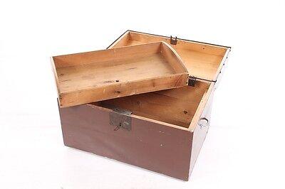 Hermosa antiguo Tesoro de Madera Arcón vintage Cofre del decoración Caja