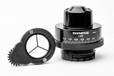 Olympus microscope condenser darkfield polarizing rotatable oblique insert set 2