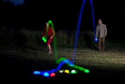 LED Boccia LED Boule LED Spiel LED Kugeln LED Bälle Nacht Boccia
