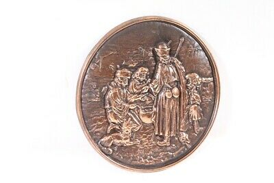 Old Picture Relief Art Mural Decoration Old Vintage Wall Plate 3
