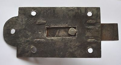 1900s Imperial Russia Interesting Solid Metal Slide Door Lock NICE 3