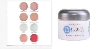 Star Nail T3 Fiber Gel Classic European flexible sculpting gel 8 colors 1oz(28g)