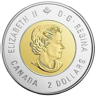NEW! 2019 75th D-Day COLOURED + NO COLOUR UNC Canada $2 dollar toonie coins 4