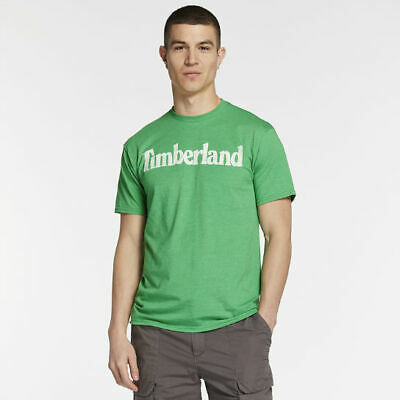 NWT Timberland Men's Faded Linear Logo Short Sleeve Crew Neck T Shirt A11GY NEW 11