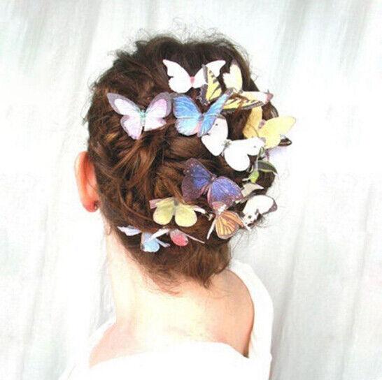 5Pcs/Set Women Girls Butterfly Hair Clips Wedding Pins Party Bride Hairpins 2