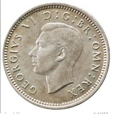 1937 To 1952 George Vi Silver Three Pences 3D Choice Of Year / Date 3
