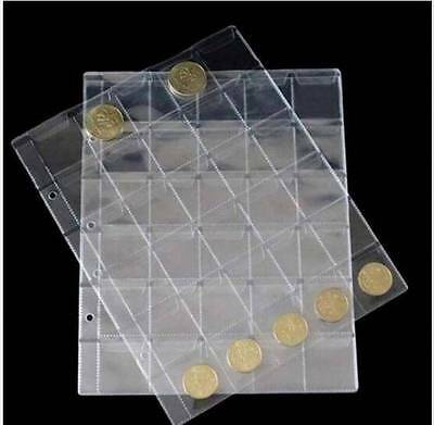 10 Page Penny Coin Collecting Holder 30 Pockets Storage Folder Album Book Sleeve 3