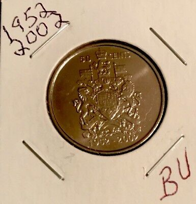 $1.00 2002 Canadian Prooflike Loonie **Double Date 1952-2002**