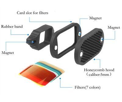 Selens Magnet Flash Modifier Kit Honeycomb Grid Grip Gel Color Filter Universal 3
