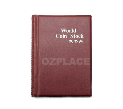 2x 120 Coin Holders Collection Storage Money Penny Pockets Album Book Collecting 2