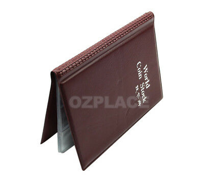 2x 120 Coin Holders Collection Storage Money Penny Pockets Album Book Collecting 10