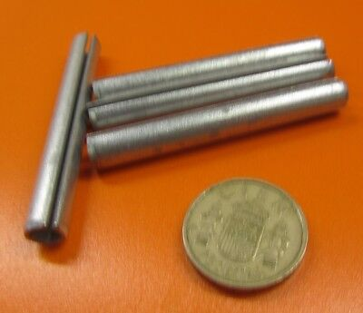 """5//16/"""" Dia x 2 1//4/"""" Length Zinc Plate Steel Slotted Roll Spring Pin 50 pcs"""