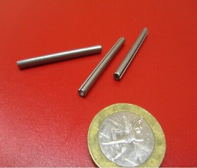 """18-8 Stainless Steel, Slotted Roll Spring Pin, 1/8"""" Dia x 1 1/2"""" Length, 100 pcs 3"""